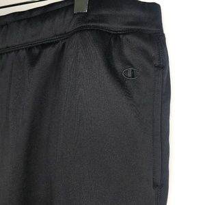 Champion Pants - Champion Double Dry Black Track Pants A070529